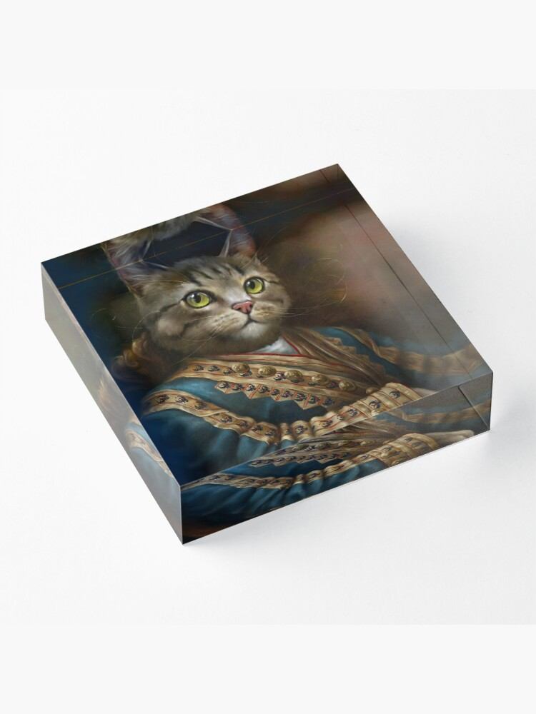 Alternate view of The Hermitage Court Outrunner Cat, alternative proportions Acrylic Block