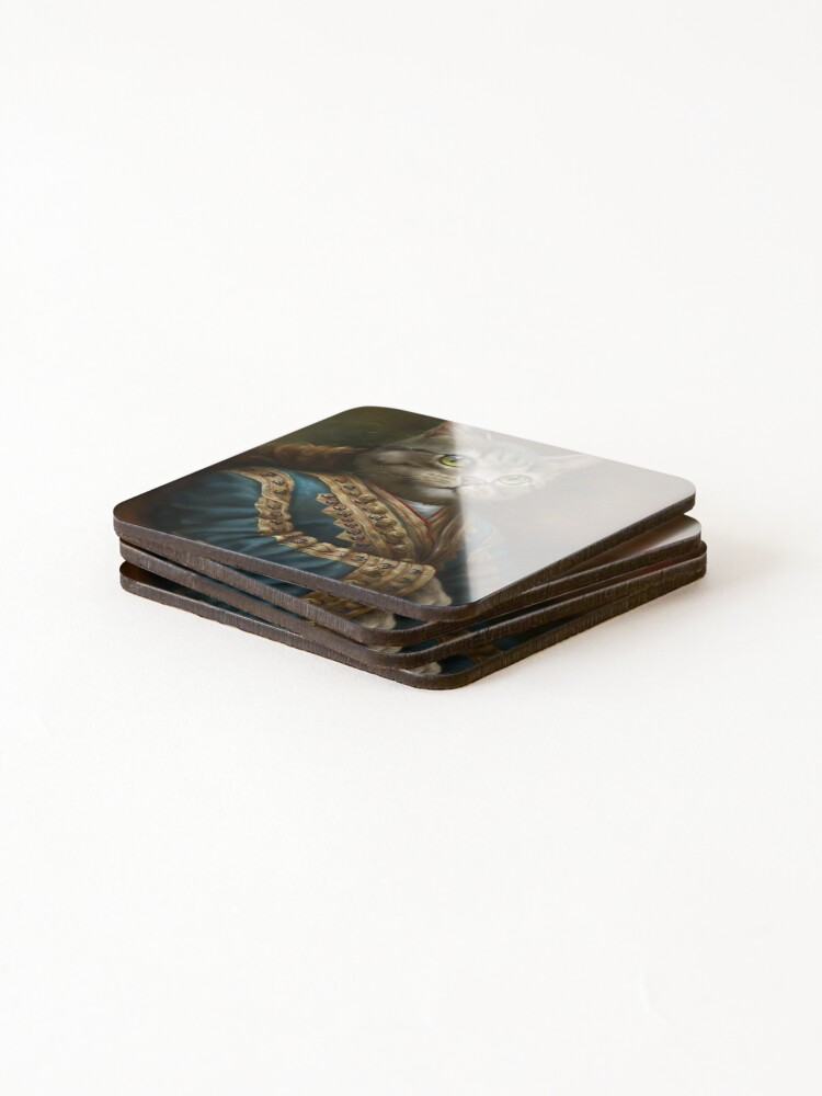 Alternate view of The Hermitage Court Outrunner Cat, alternative proportions Coasters (Set of 4)