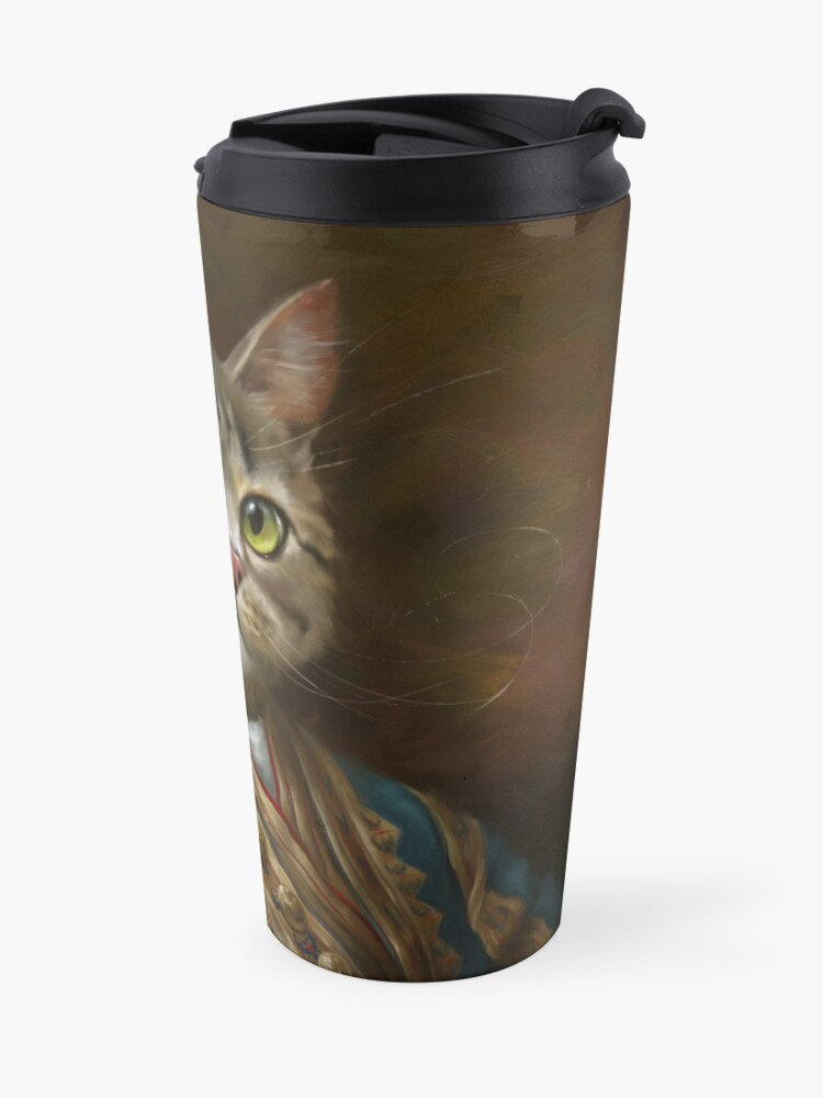 Alternate view of The Hermitage Court Outrunner Cat, alternative proportions Travel Mug