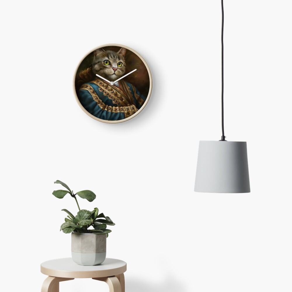 The Hermitage Court Outrunner Cat, alternative proportions Clock