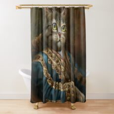 The Hermitage Court Outrunner Cat, alternative proportions Shower Curtain