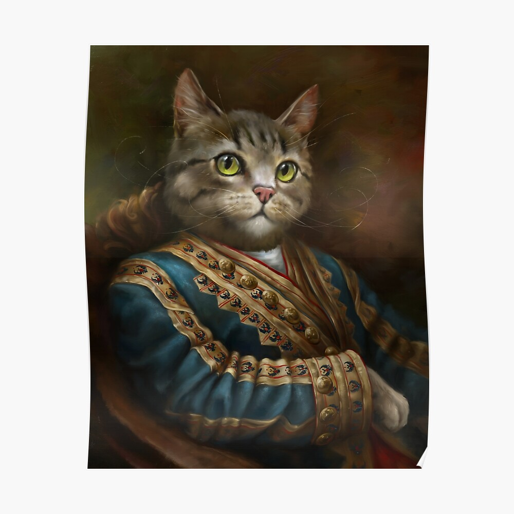The Hermitage Court Outrunner Cat, alternative proportions Poster