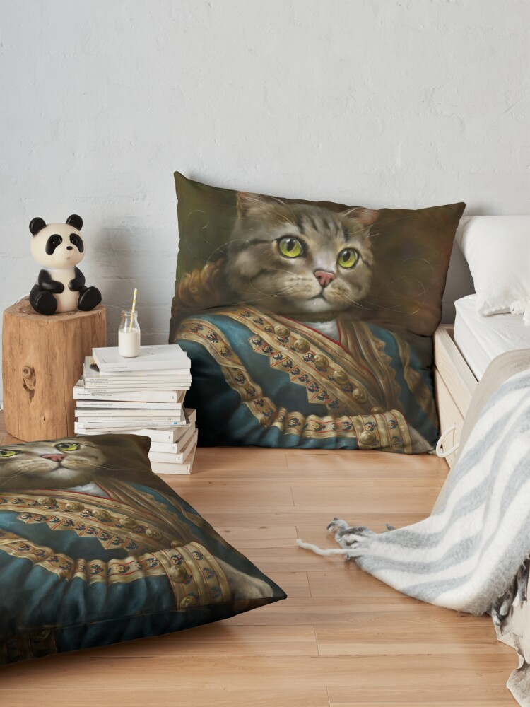 Alternate view of The Hermitage Court Outrunner Cat, alternative proportions Floor Pillow