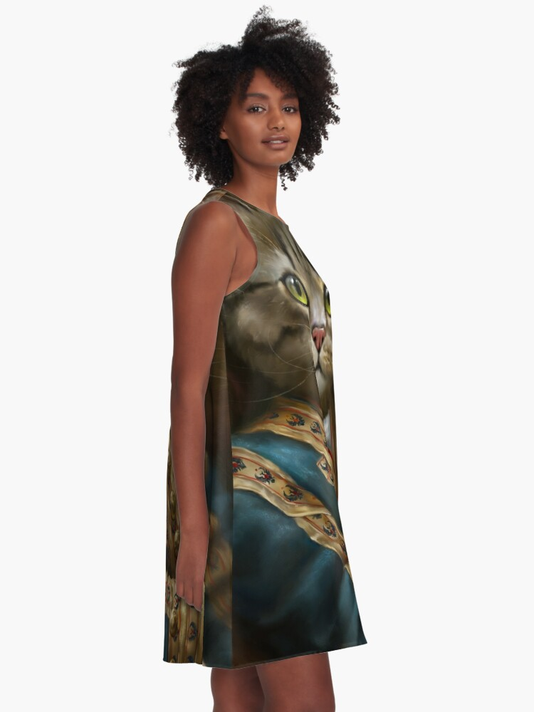 Alternate view of The Hermitage Court Outrunner Cat, alternative proportions A-Line Dress