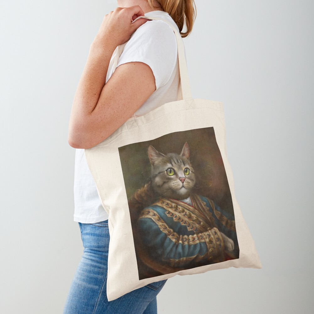 The Hermitage Court Outrunner Cat, alternative proportions Tote Bag