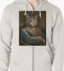 The Hermitage Court Outrunner Cat, alternative proportions Zipped Hoodie