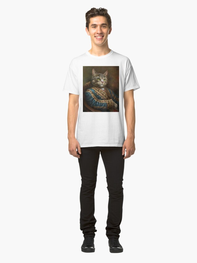 Alternate view of The Hermitage Court Outrunner Cat, alternative proportions Classic T-Shirt