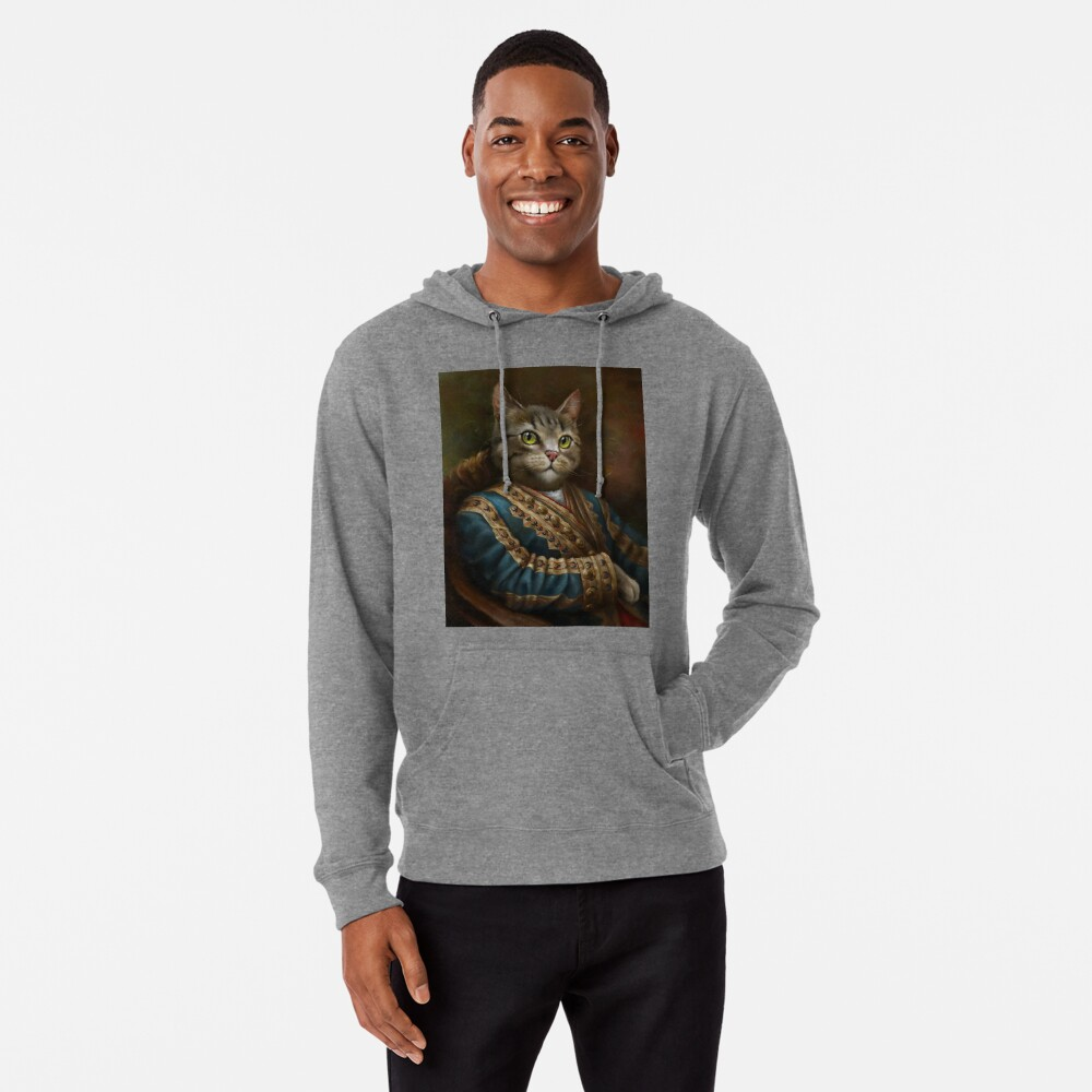 The Hermitage Court Outrunner Cat, alternative proportions Lightweight Hoodie