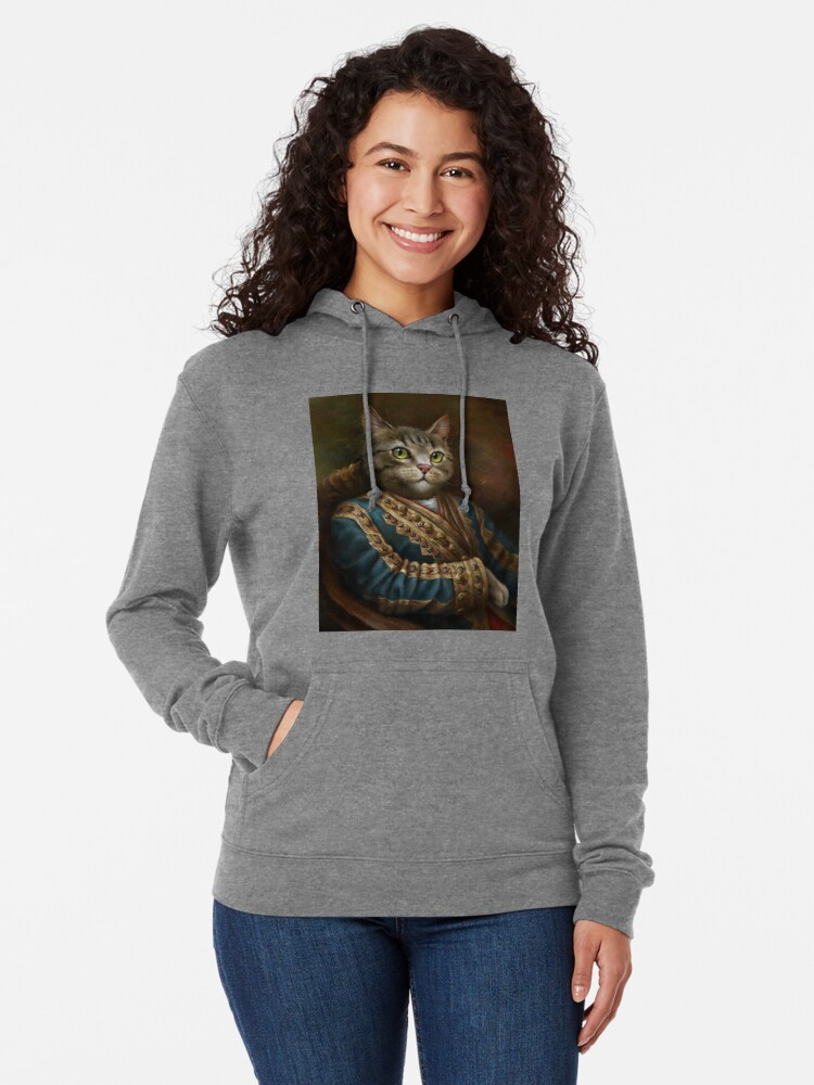 Alternate view of The Hermitage Court Outrunner Cat, alternative proportions Lightweight Hoodie