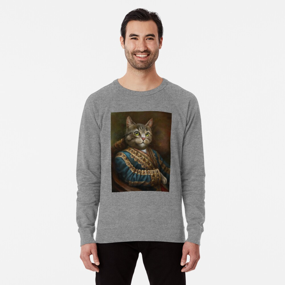 The Hermitage Court Outrunner Cat, alternative proportions Lightweight Sweatshirt