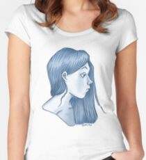 blue profile Women's Fitted Scoop T-Shirt
