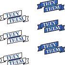 They/Them Pronoun Pack! Royal Blue Edition by zellerpress