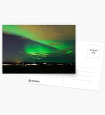 Northern lights near Reykjavik Postkarten