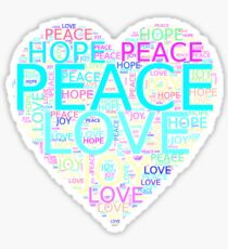 Inspiring Gift - Peace Love Joy Hope Heart Sticker