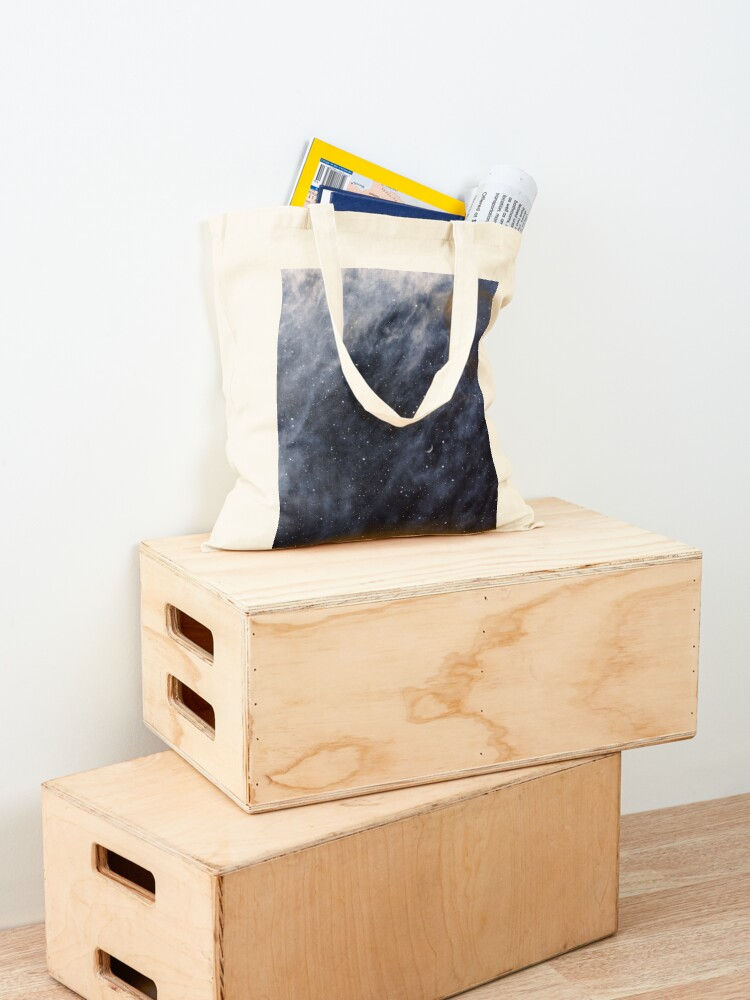 Alternate view of Blue Clouds, Blue Moon Tote Bag