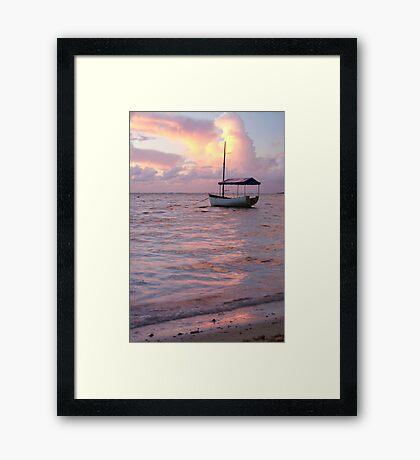 Raro dawn - Cook Islands Framed Print