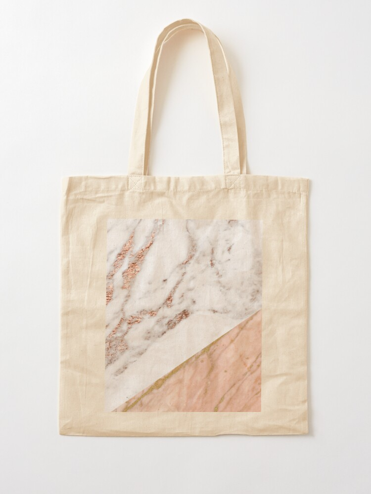 Alternate view of Rose gold marble blended Tote Bag