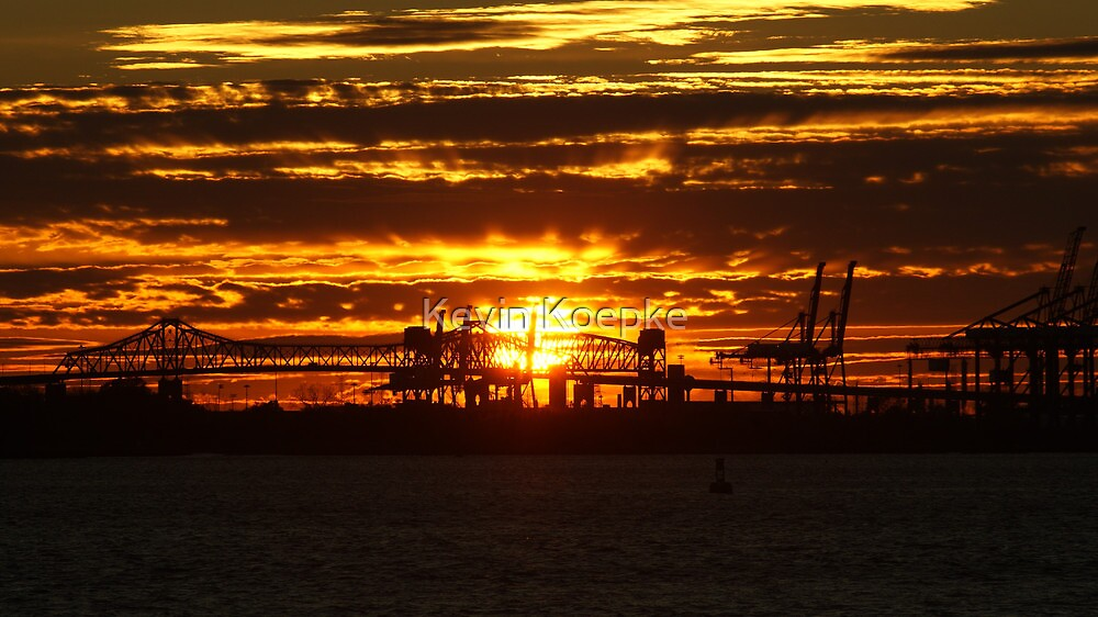 industrial sunset by Kevin Koepke