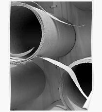 Tubular Sculpture Poster