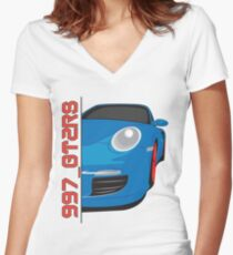 997 Porsche GT2RS  Fitted V-Neck T-Shirt