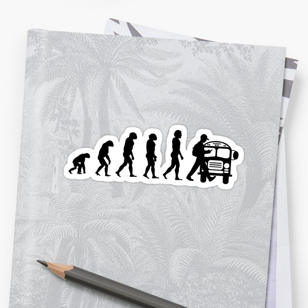 Vom Affen zum Telefonabhängigen in der Evolution der Menschheit Sticker