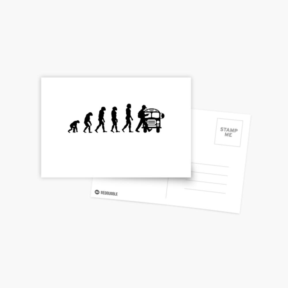 Vom Affen zum Telefonabhängigen in der Evolution der Menschheit Postkarte