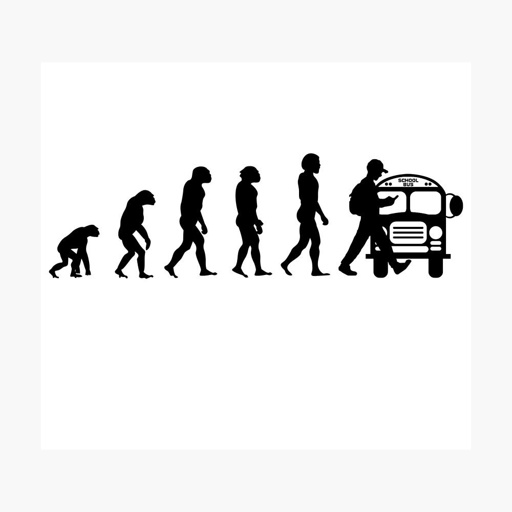 Vom Affen zum Telefonabhängigen in der Evolution der Menschheit Fotodruck