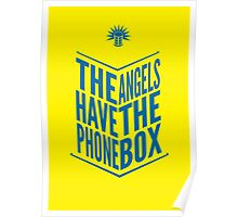 The Angels Have The Phone Box Tribute Poster Dark Blue On Yellow Poster