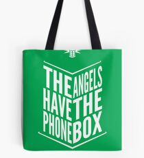The Angels Have The Phone Box Tribute Poster White on Green Tote Bag