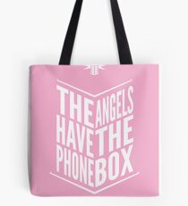 The Angels Have The Phone Box Tribute Poster White on Pink Tote Bag