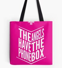 The Angels Have The Phone Box Tribute Poster White on Magenta Tote Bag