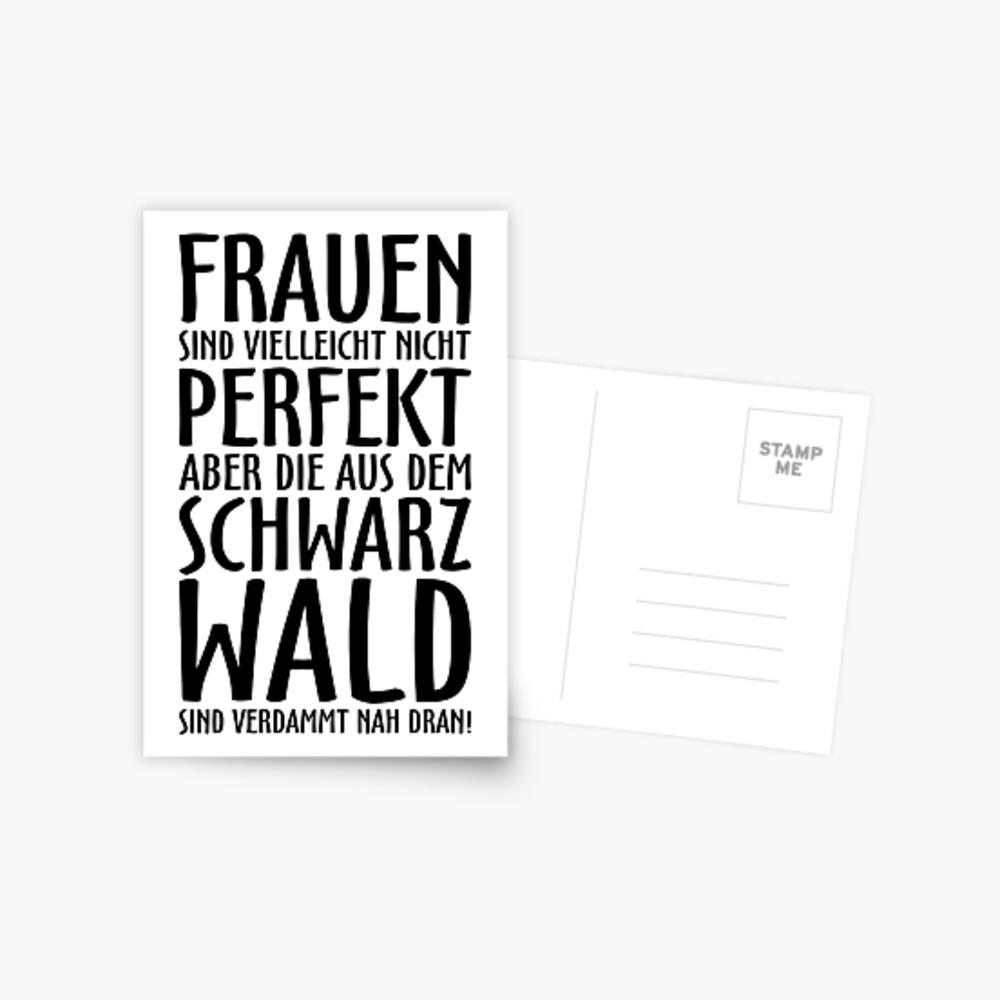 Frauen aus dem Schwarzwald (Schwarz) Postkarte