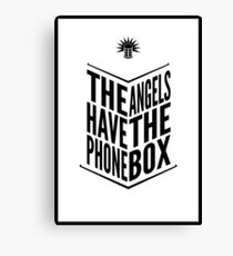 The Angels Have The Phone Box Tribute Poster Black on White Canvas Print