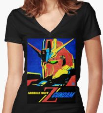 Zeta Gundam Women's Fitted V-Neck T-Shirt