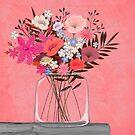 Pink Florals by Debi Hudson