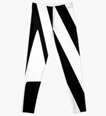 White and Black Thin Dazzle Leggings