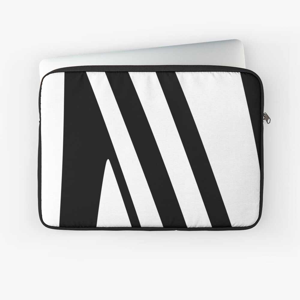 White and Black Thin Dazzle Laptop Sleeve