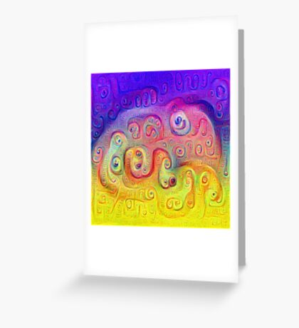 DeepDream Violet to Yellow 5K Greeting Card
