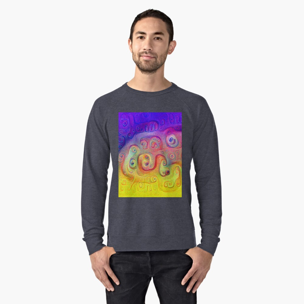 DeepDream Violet to Yellow 5K Lightweight Sweatshirt Front