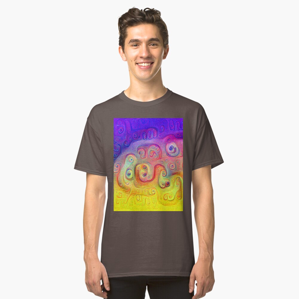 DeepDream Violet to Yellow 5K Classic T-Shirt Front