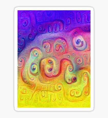 DeepDream Violet to Yellow 5K Sticker