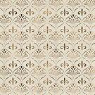 Elegantes Lilie-Muster - Pastellgold von k9printart