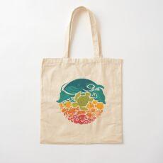 Aquatic Rainbow (light blue) Cotton Tote Bag