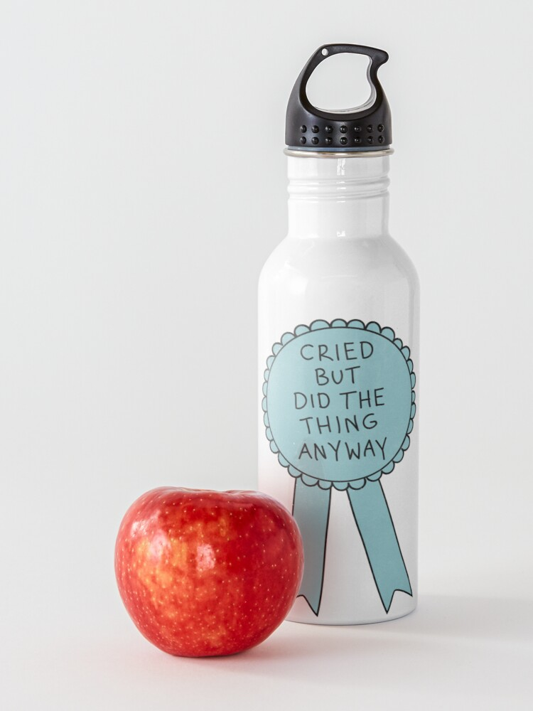 Alternate view of Did The Thing Anyway Water Bottle