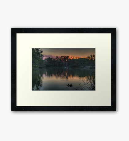 Recollections -Murray River, NSW Australia - The HDR Experience Framed Print