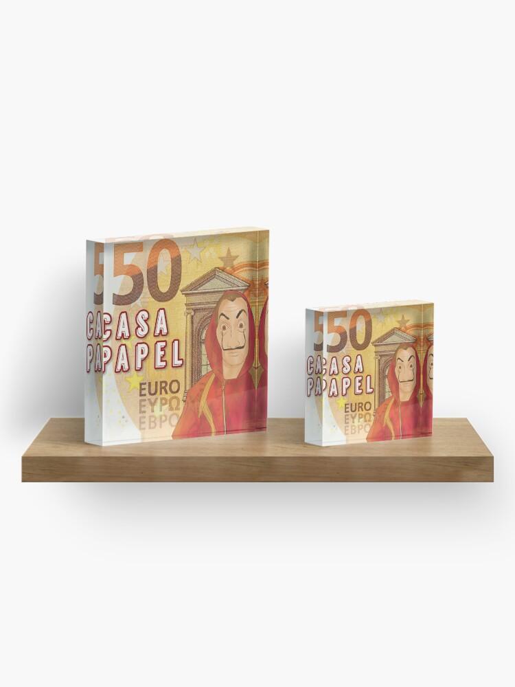 Alternate view of Casa de papel Dali 50 euros by Mimie Acrylic Block