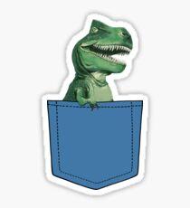 Pegatina T-Rex en bolsillo