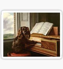 Pegatina Philip Reinagle - Retrato de un perro musical extraordinario