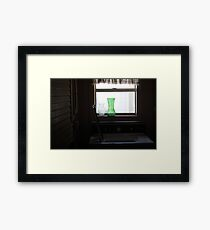 window, domestic Framed Print