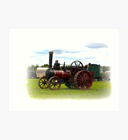 Steam Traction Engine Art Print